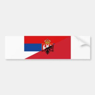 Autocollant De Voiture de symbole de pays de drapeau de la Serbie Albanie
