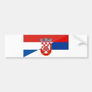 Autocollant De Voiture de symbole de pays de drapeau de la Serbie Croatie