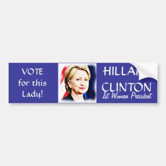 Autocollant De Voiture _de Vote-Hillary Clinton