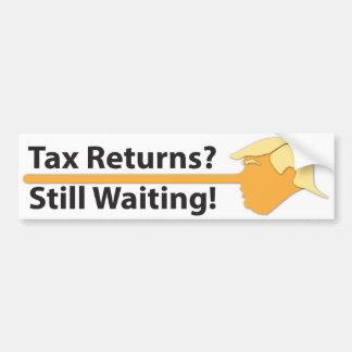 Autocollant De Voiture Déclarations d'impôt ? Attendant toujours ! (sur