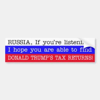 Autocollant De Voiture Déclarations d'impôt de Donald Trump de découverte