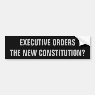 Autocollant De Voiture Décrets, la nouvelle constitution ?