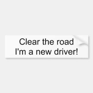 Autocollant De Voiture Dégagez la route que je suis un nouveau conducteur