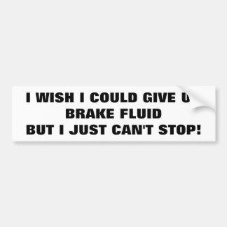 Autocollant De Voiture Dépendant au liquide des freins ? Essai et arrêt !