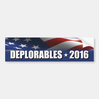 Autocollant De Voiture Deplorables 2016