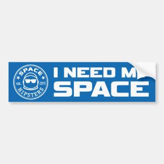"""Autocollant De Voiture Des hippies de l'espace """"j'adhésif pour pare-chocs"""