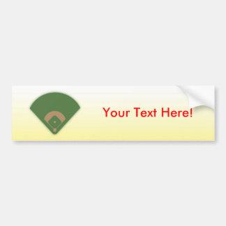 Autocollant De Voiture Diamant de base-ball : Adhésif pour pare-chocs