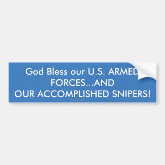 Autocollant De Voiture Dieu bénissent les FORCES ARMÉES. .ACCOMPLISHED