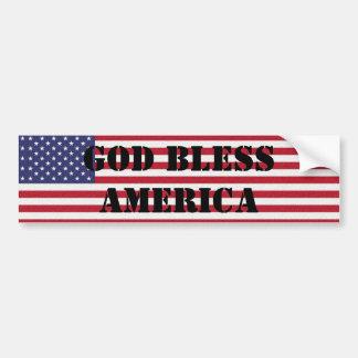 Autocollant De Voiture Dieu classique et puissant patriote bénissent l'Am