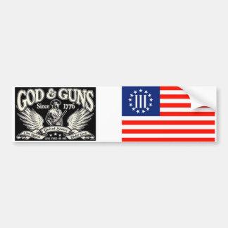 Autocollant De Voiture Dieu et armes à feu