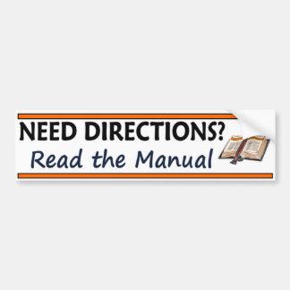 Autocollant De Voiture Directions du besoin ?  Lisez la bible drôle