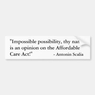 Autocollant De Voiture Dissidence d'Antonin Scalia sur Obamacare