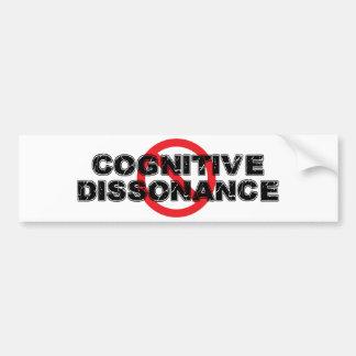 Autocollant De Voiture Dissonance cognitive d'interdiction