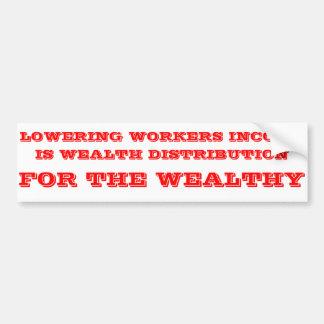 Autocollant De Voiture Distribution de richesse