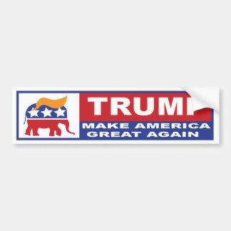 Autocollant De Voiture Donald Trump font à l'Amérique le grand adhésif
