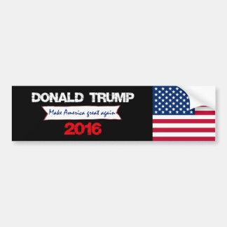 Autocollant De Voiture Donald Trump pour le président 2016