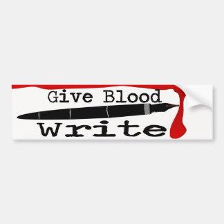 Autocollant De Voiture Donnez le sang écrivent l'adhésif pour pare-chocs