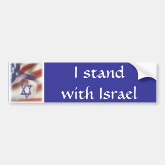 Autocollant De Voiture Drapeau américain et israélien que je me tiens
