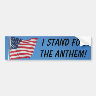 Autocollant De Voiture Drapeau américain que je représente l'hymne