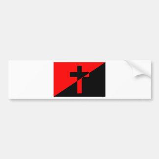 Autocollant De Voiture Drapeau chrétien de christianisme d'anarchie