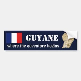 Autocollant De Voiture Drapeau de Guyane + Adhésif pour pare-chocs de