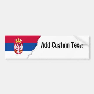 Autocollant De Voiture Drapeau de la Serbie