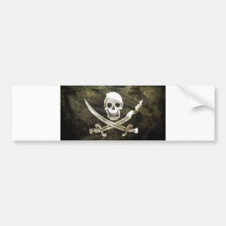 Autocollant De Voiture Drapeau de pirate, drapeau des pirates