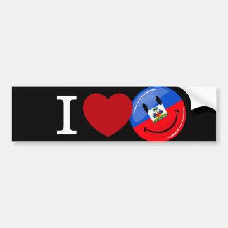 Autocollant De Voiture Drapeau de sourire du Haïti d'amour
