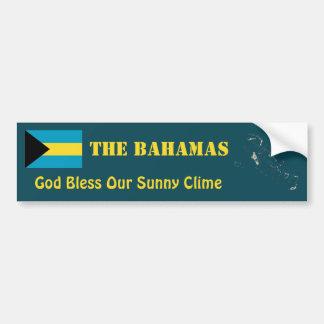 Autocollant De Voiture Drapeau des Bahamas + Adhésif pour pare-chocs de