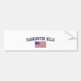 Autocollant De Voiture Drapeau des USA de collines de Farmington