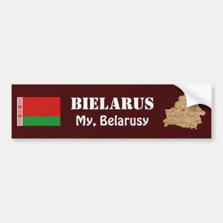 Autocollant De Voiture Drapeau du Belarus + Adhésif pour pare-chocs de