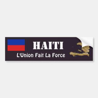 Autocollant De Voiture Drapeau du Haïti + Adhésif pour pare-chocs de