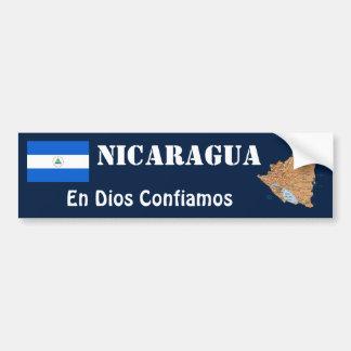 Autocollant De Voiture Drapeau du Nicaragua + Adhésif pour pare-chocs de