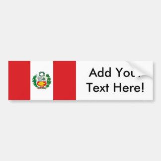 Autocollant De Voiture Drapeau du Pérou