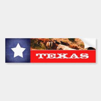 Autocollant De Voiture Drapeau et chevaux du Texas