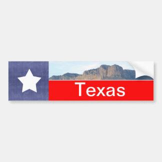 Autocollant De Voiture Drapeau et montagnes du Texas