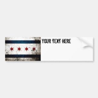 Autocollant De Voiture Drapeau grunge noir de Chicago