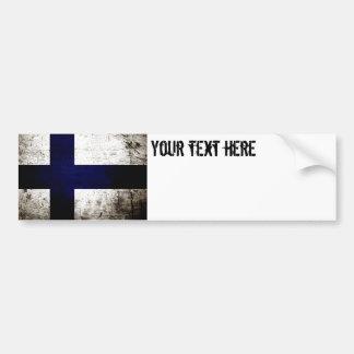 Autocollant De Voiture Drapeau grunge noir de la Finlande