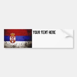 Autocollant De Voiture Drapeau grunge noir de la Serbie