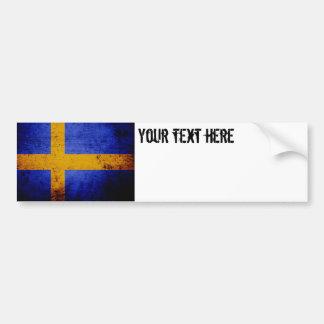 Autocollant De Voiture Drapeau grunge noir de la Suède