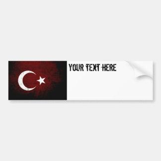 Autocollant De Voiture Drapeau grunge noir de la Turquie