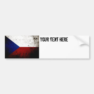 Autocollant De Voiture Drapeau grunge noir de République Tchèque