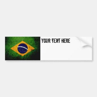 Autocollant De Voiture Drapeau grunge noir du Brésil