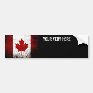 Autocollant De Voiture Drapeau grunge noir du Canada