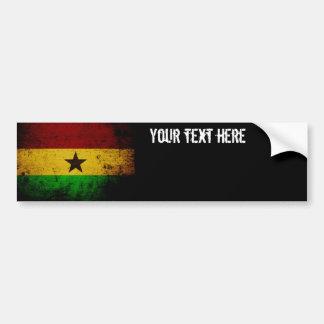 Autocollant De Voiture Drapeau grunge noir du Ghana