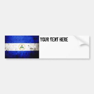 Autocollant De Voiture Drapeau grunge noir du Nicaragua