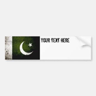 Autocollant De Voiture Drapeau grunge noir du Pakistan