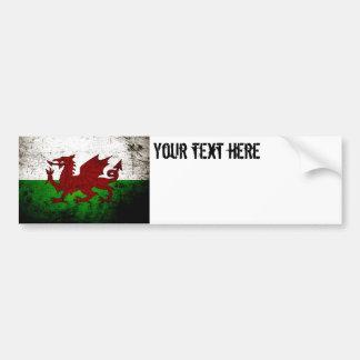 Autocollant De Voiture Drapeau grunge noir du Pays de Galles