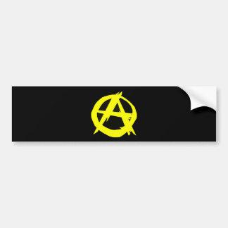 Autocollant De Voiture Drapeau noir et jaune de capitalisme d'Anarcho