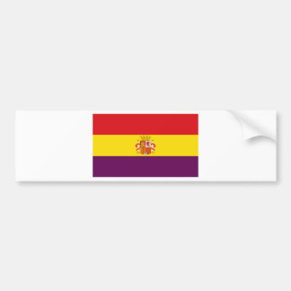 Autocollant De Voiture Drapeau républicain espagnol - Bandera República